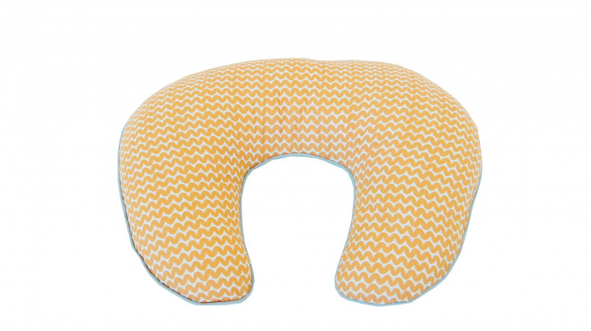 Amani Bebe Up In The Sky Nursing Pillow Orange Lime Side A