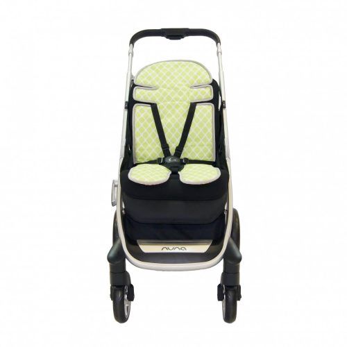 Amani Bebe Up in The Sky Stroller Liner Orange Lime Side A