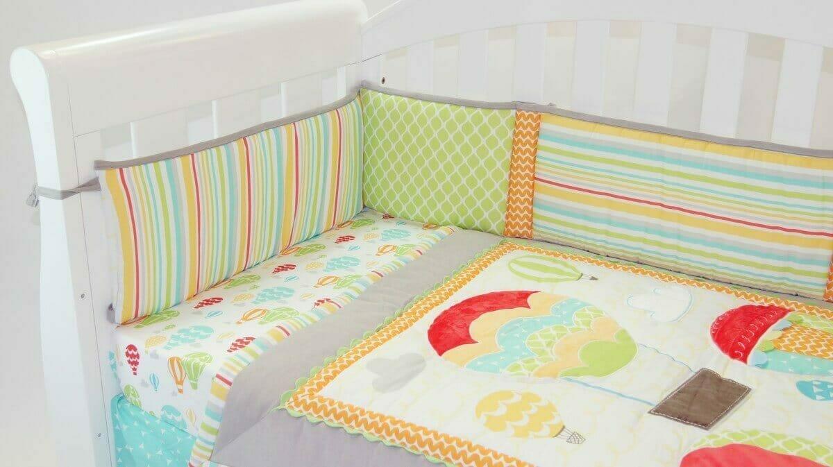 Amani Bebe Up In Sky 4 Piece Baby Bedding Set