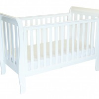 babyhood Classic Sleigh Cot 4 in 1 Drop side Up included in the Babyhood Classic Sleigh Cot 4 Pce Package Deal