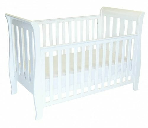 babyhood Classic Sleigh Cot 4 in 1 Drop side Down