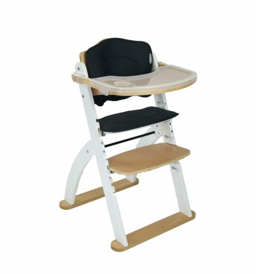 Kaylula Ava Forever High Chair White Angle View With Tray