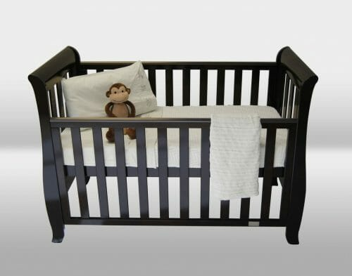 Babyhood Classic Sleigh Cot English Oak Lifestyle