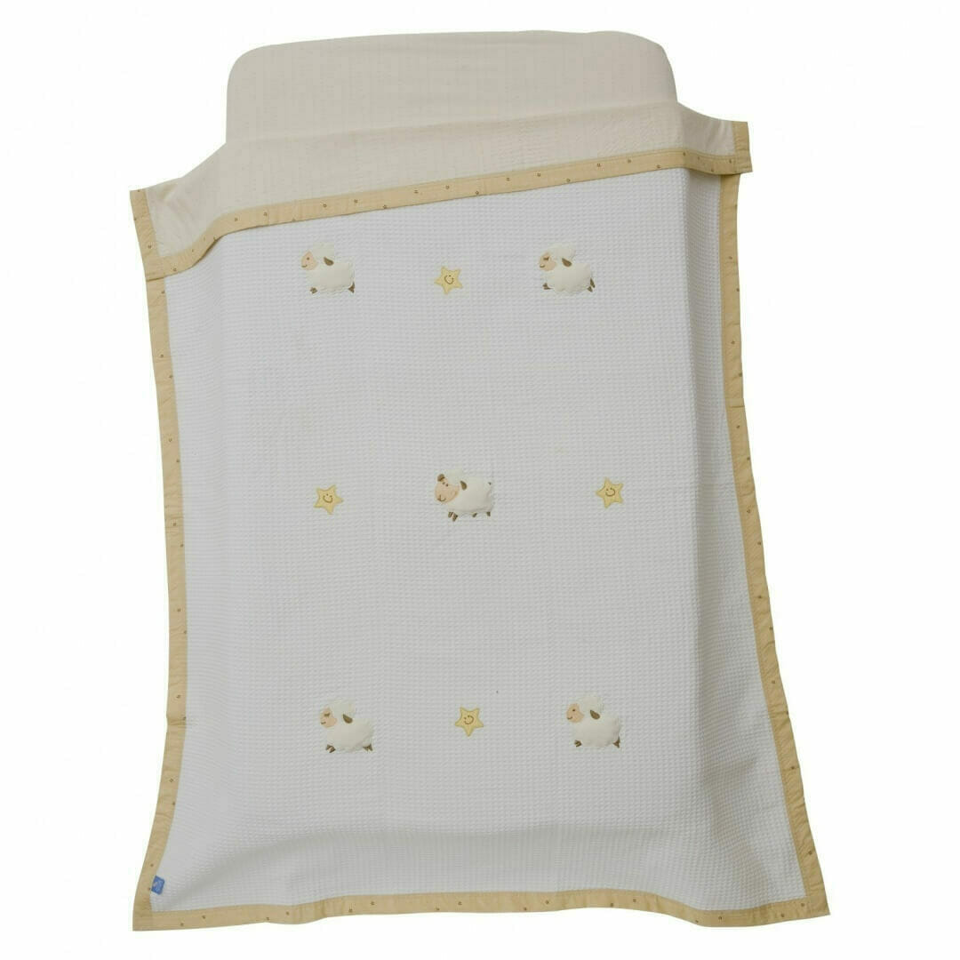 Living Textiles Counting Sheep Waffle Blanket
