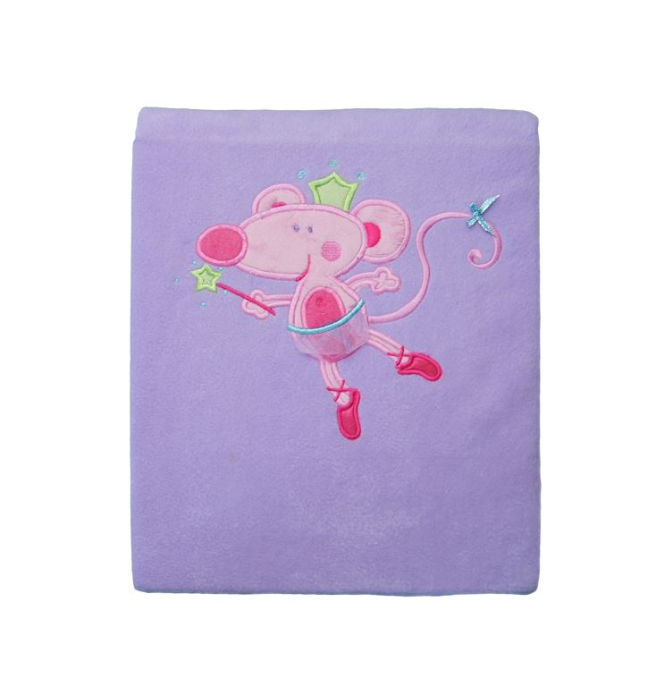 Polar Fleece Blanket Purple