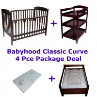 Babyhood Classic Curve Cot 4 Pce Package Deal