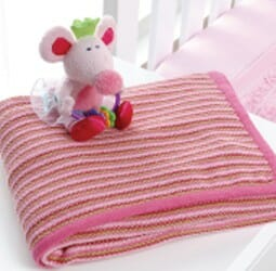 Ballerina Mouse Knitted Blanket