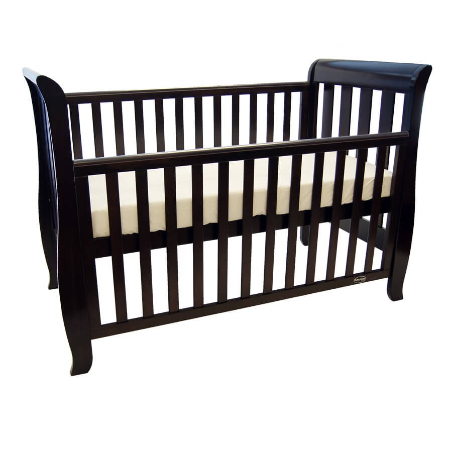 babyhood Classic Sleigh Cot English Oak