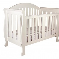 Babyhood Grow With Me Sleigh Cot White