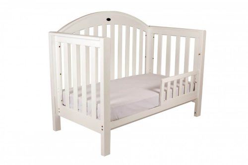 Grow With Me Classic White Toddler Bed