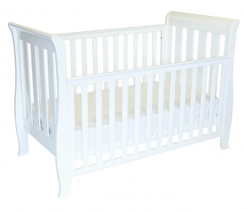 babyhood Classic Sleigh 4 in 1 Cot Drop side Down