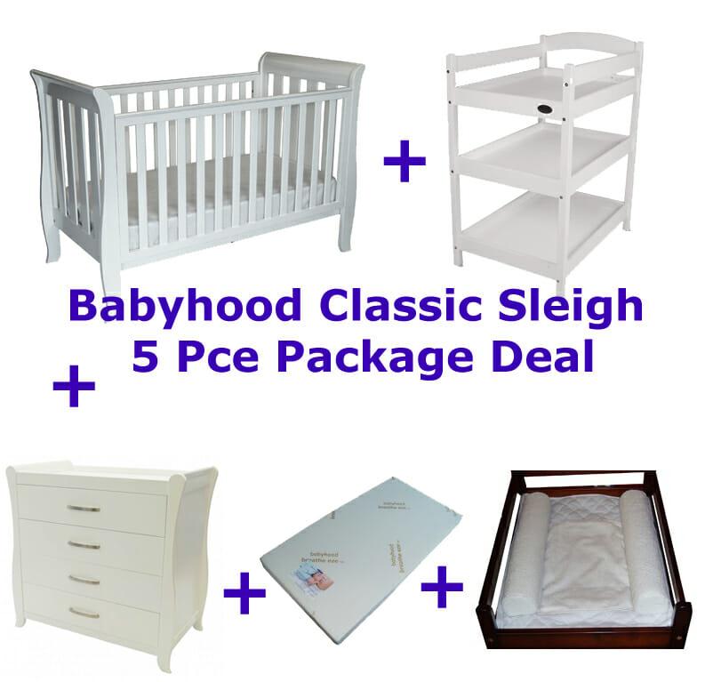 Babyhood Classic Sleigh 5 Pce Deal