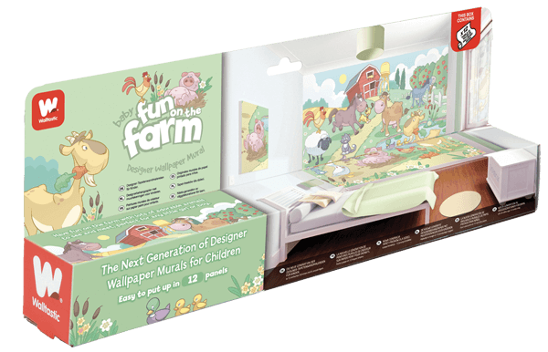 Walltastic Baby Farm Mural Packaging
