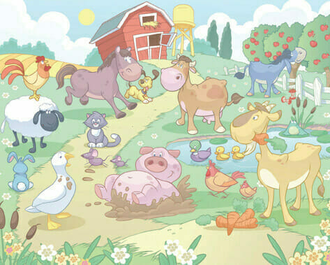 Walltastic Baby Farm Mural