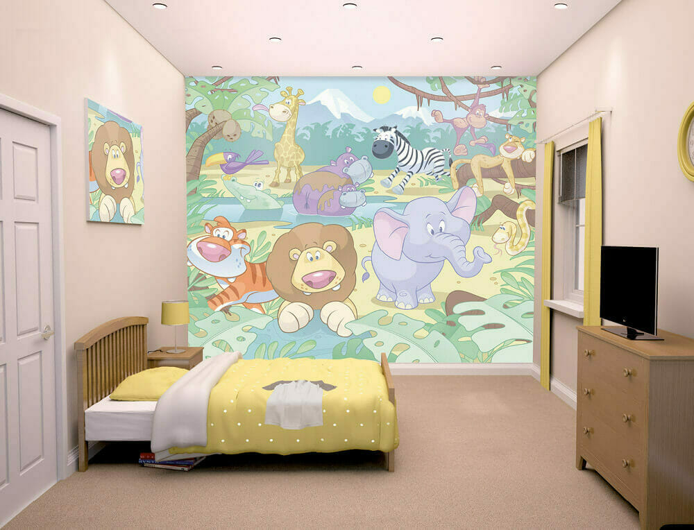 Walltastic Baby Jungle Safari Lifestyle