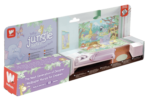 Walltastic Baby Jungle Safari Packaging
