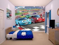 Walltastic Car Racers Bedroom Scene