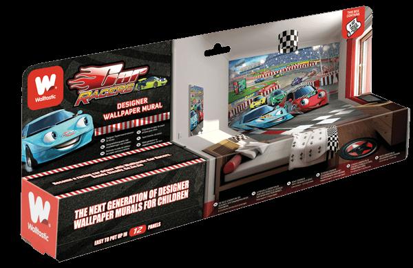Walltastic Car Racers Packaging