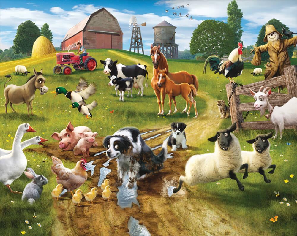 Walltastic Farmyard Fun Mural
