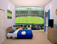 Walltastic Football Crazy Kids Wall Mural Lifestyle