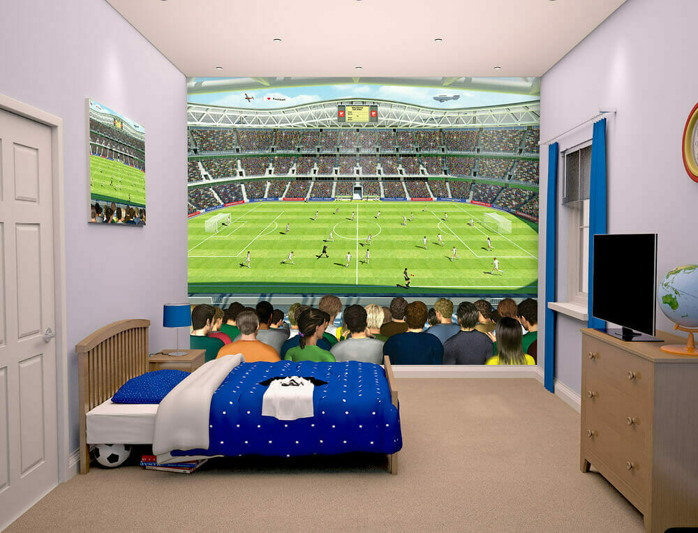 walltastic football crazy kids wall mural bubs n grubs. Black Bedroom Furniture Sets. Home Design Ideas