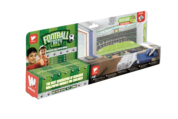 Walltastic Football Crazy Kids Wall Mural Packaging