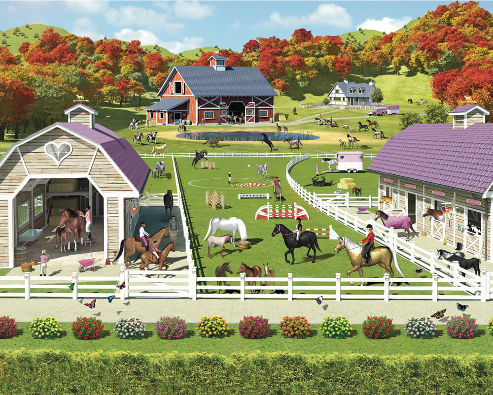 Walltastic Horse and Pony Kids Mural
