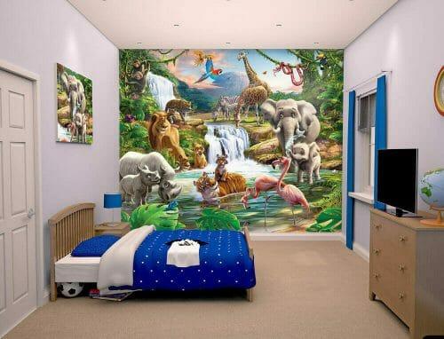 Walltastic Jungle Adventure Kids Mural Lifestyle