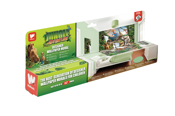 Walltastic Jungle Adventure Kids Mural Packaging