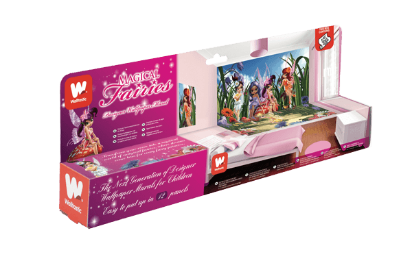 Walltastic Magical Fairies Lifestyle packaging