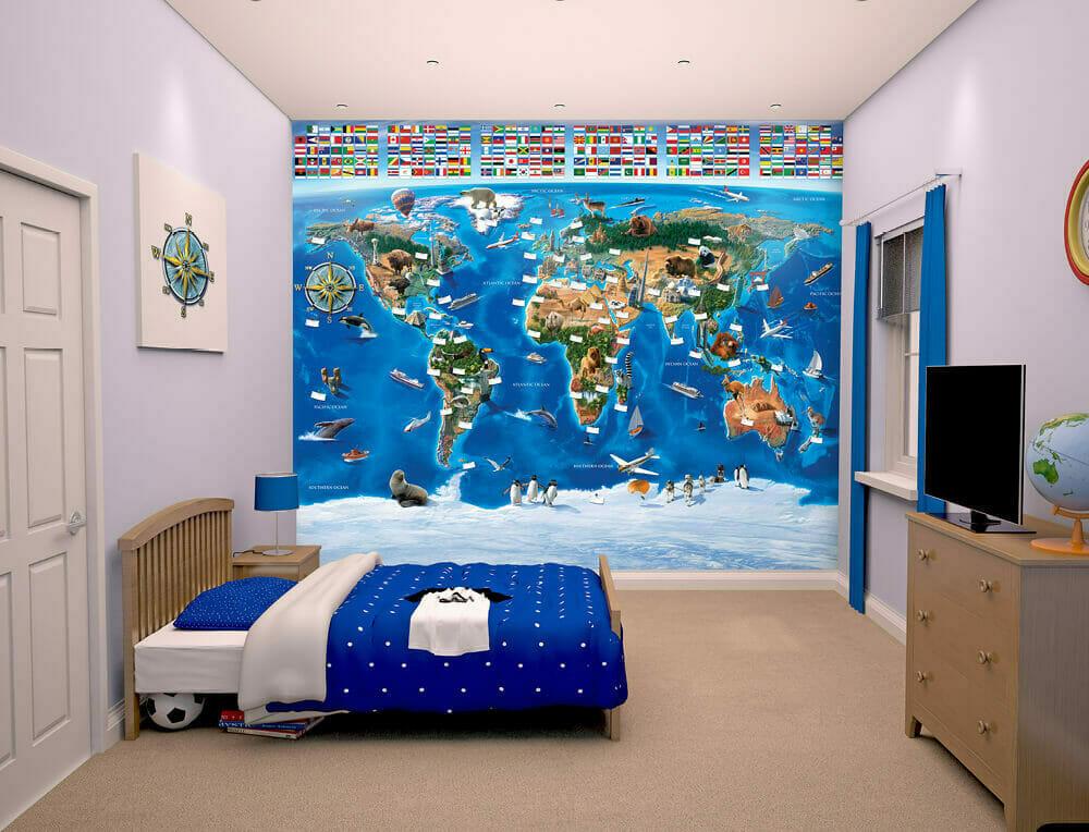 walltastic map of the world kids wall mural bubs n grubs