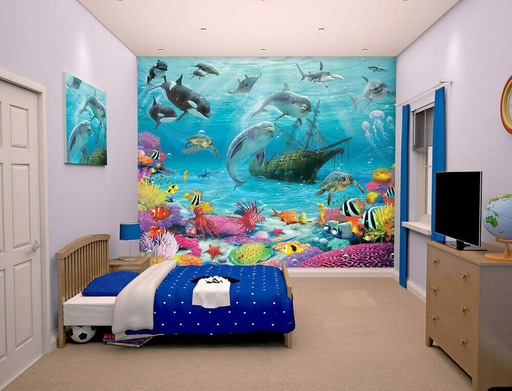 Walltastic Sea Adventure Kids Wall Mural