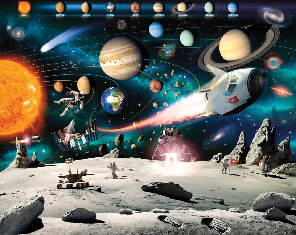 Walltastic Space Adventure Kids Wall Mural