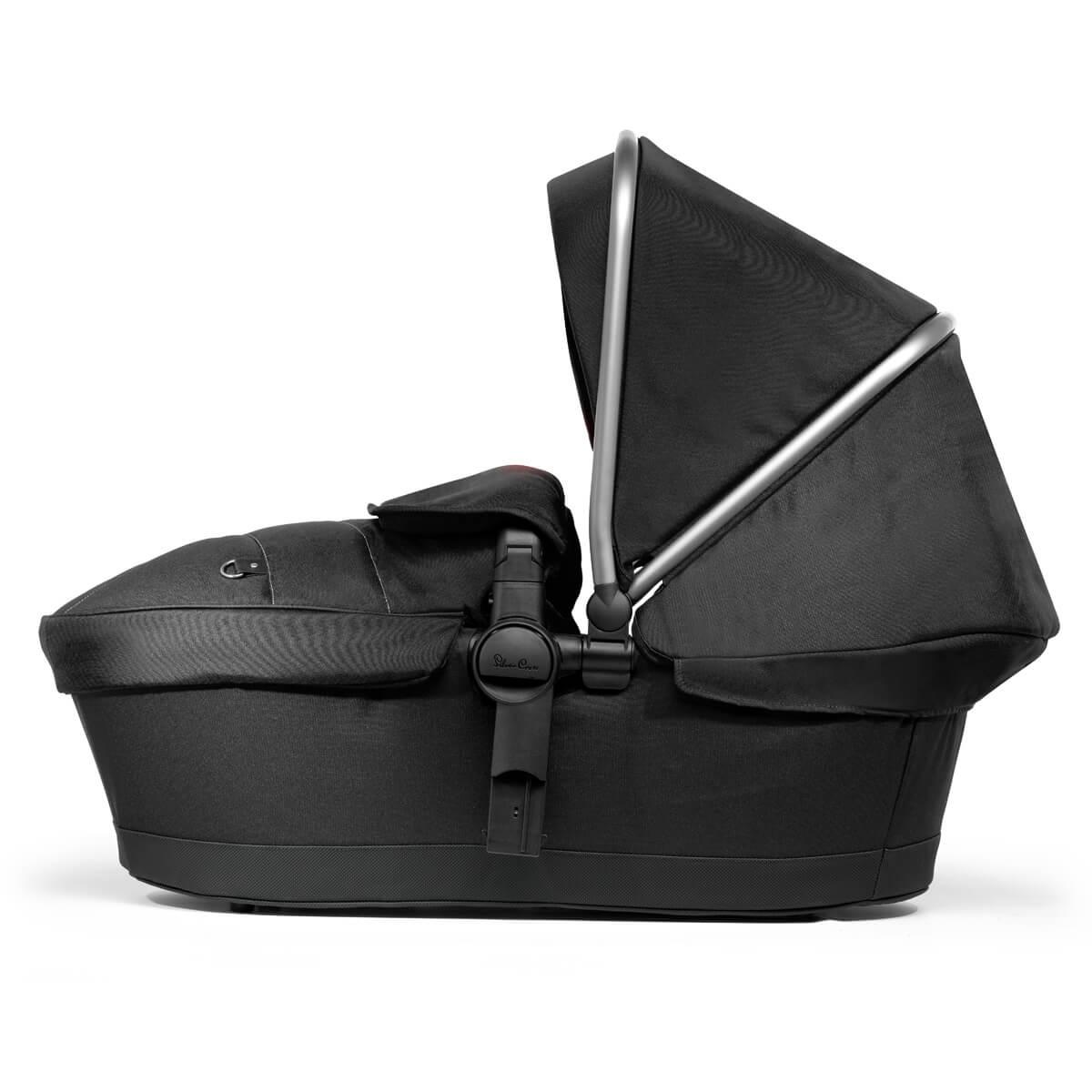 Silver Cross Pioneer Graphite BLACK Carry Cot