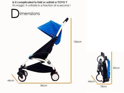Babyzen Yoyo Stroller Dimensions