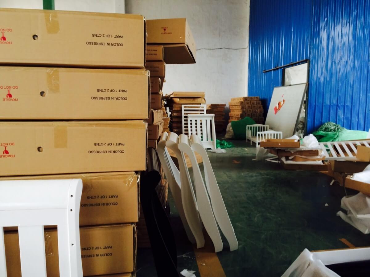 Sweat Shop Baby Cots Factory