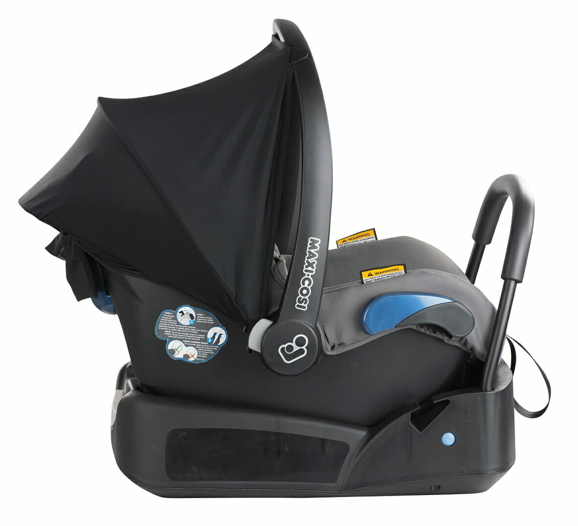 Maxi Cosi Citi Black Raven Side View