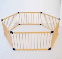 Wooden Playpen 3 in 1 Deluxe Hexagonal
