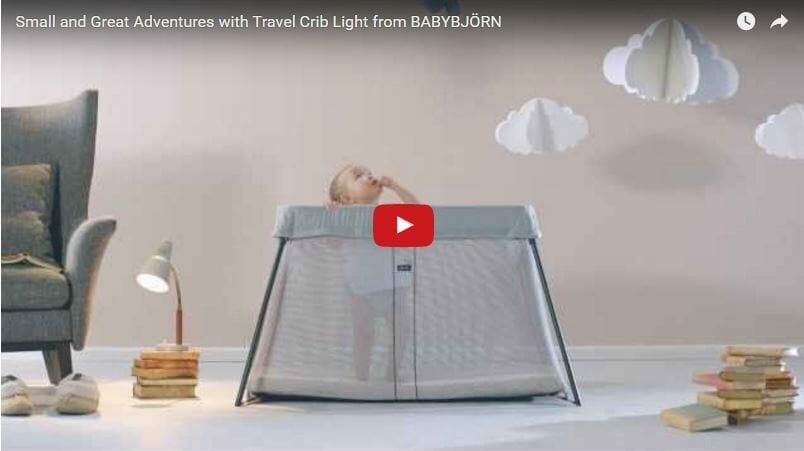 babybjorn travel cot light Video Review