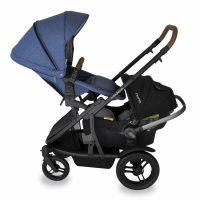 Babyhood Doppio Marina Double Backward Seat Capsule Blue