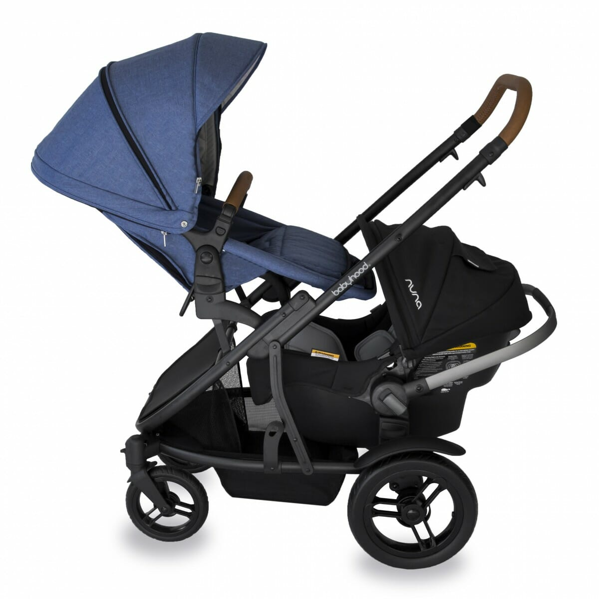 Babyhood Doppio Marina Double Backward Seat Capsule Blue
