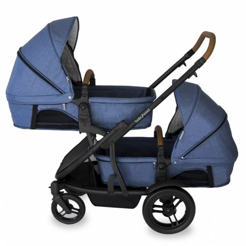 Babyhood Doppio Marina Double Bassinet Blue