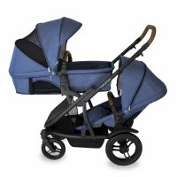Babyhood Doppio Marina Double Bassinet Seat Blue