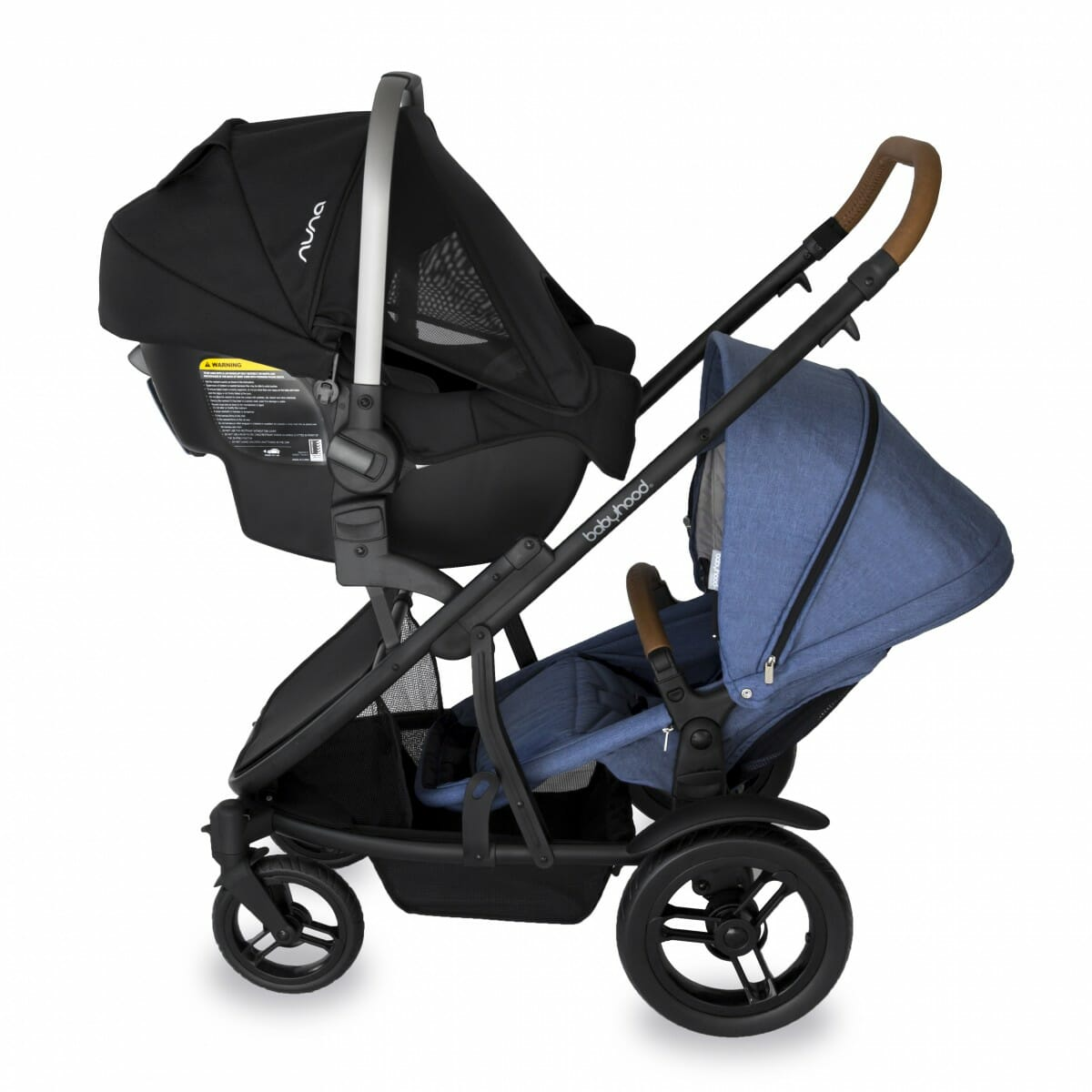 Babyhood Doppio Marina Double Capsule Forward Seat Blue
