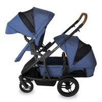 Babyhood Doppio Marina Double Forward Seat Bassinet Blue