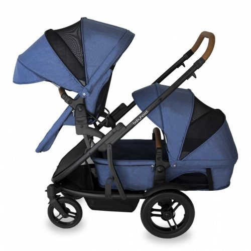 Babyhood Doppio Marina Double Forward Seat Bassinet Blue