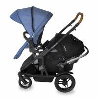 Babyhood Doppio Marina Double Forward Seat Capsule Blue