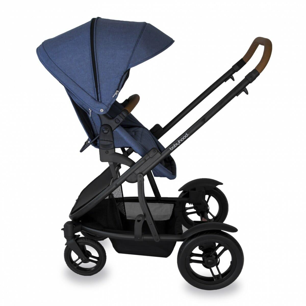 Babyhood Doppio Marina Single Backwards Seat1 Blue