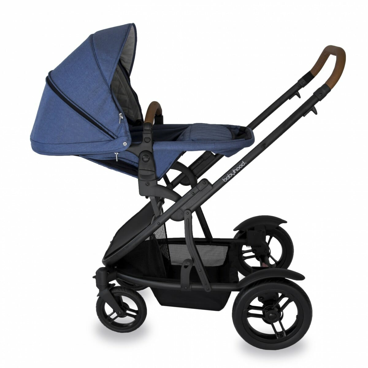 Babyhood Doppio Marina Single Backwards Seat3 Blue