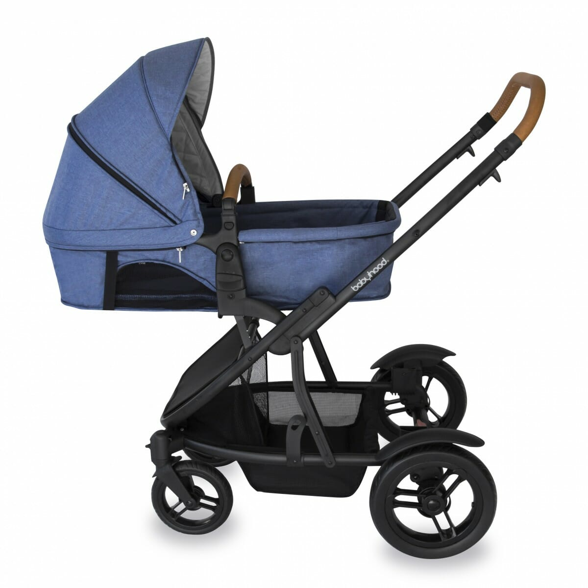 Babyhood Doppio Marina Single Bassinet Blue